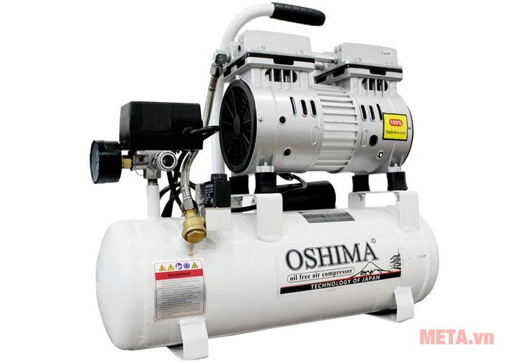 Máy nén khí không dầu Oshima 9 lít