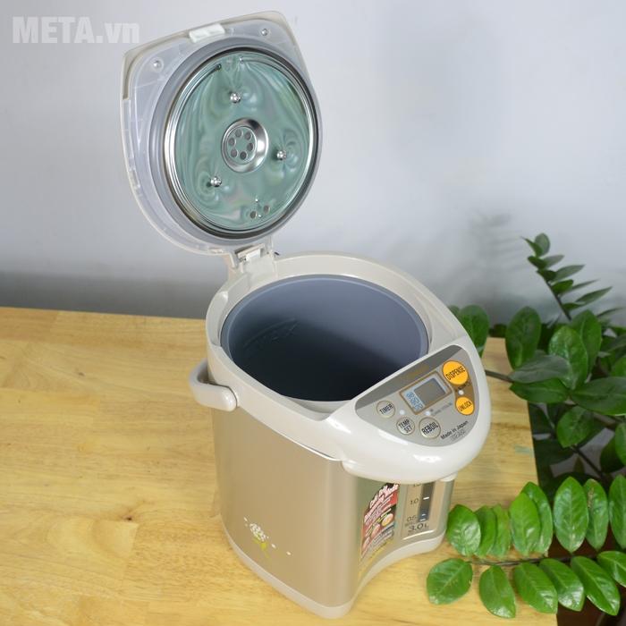 Bình thuỷ điện Zojirushi CD-JUQ30 có nắp đậy tiện dụng