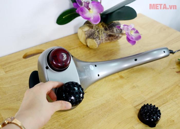 Bạn có thể tháo lắp các đầu massage để phù hợp với nhu cầu sử dụng