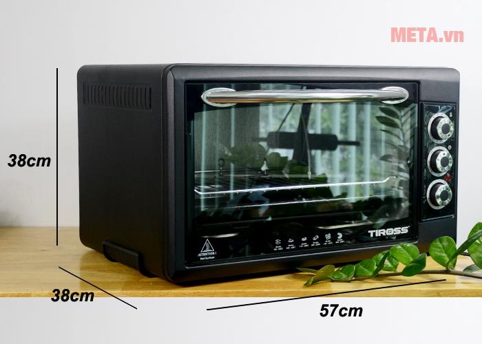 Kích thước lò nướng thùng Tiross TS9603