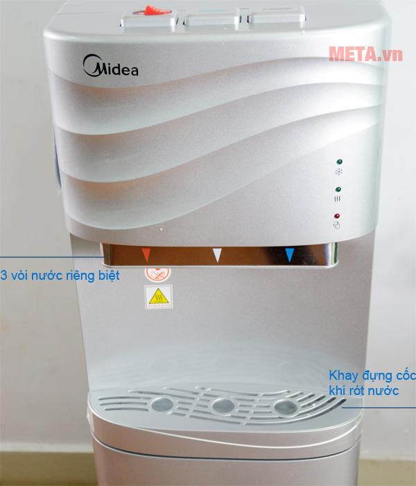 Cây nước nóng lạnh cao cấp Midea YL1634S thiết kế 3 vòi cấp nước riêng biệt