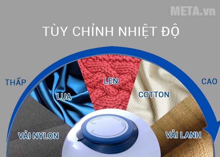 Bàn là Electrolux EDI2004 có thể tùy chỉnh nhiều mức nhiệt