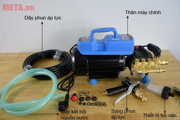 Máy xịt rửa Oshima OS-1100A có khả năng hút nước từ xô chậu