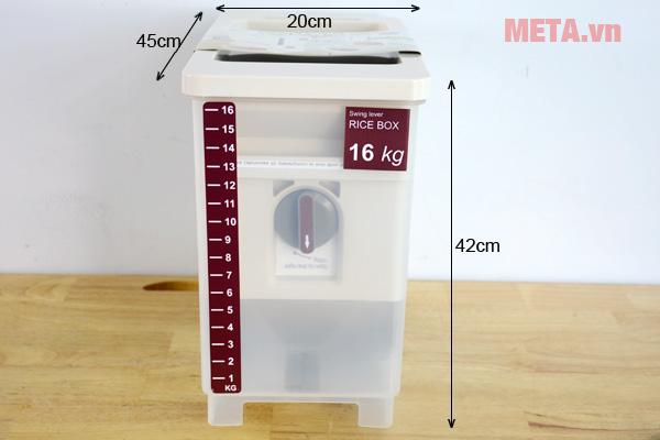Thùng có trọng lượng siêu nhẹ chỉ 1,8kg