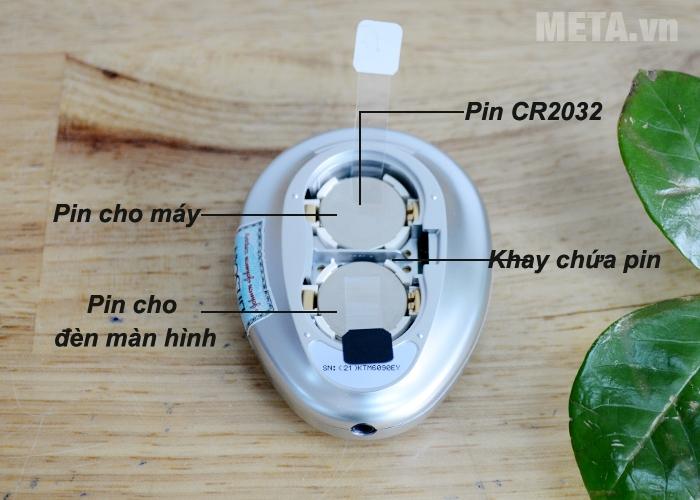 Máy đo đường huyết OneTouch Ultra 2 sử dụng 2 pin CR 2032