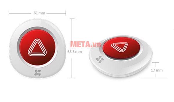 Kích thước của nút bấm không dây