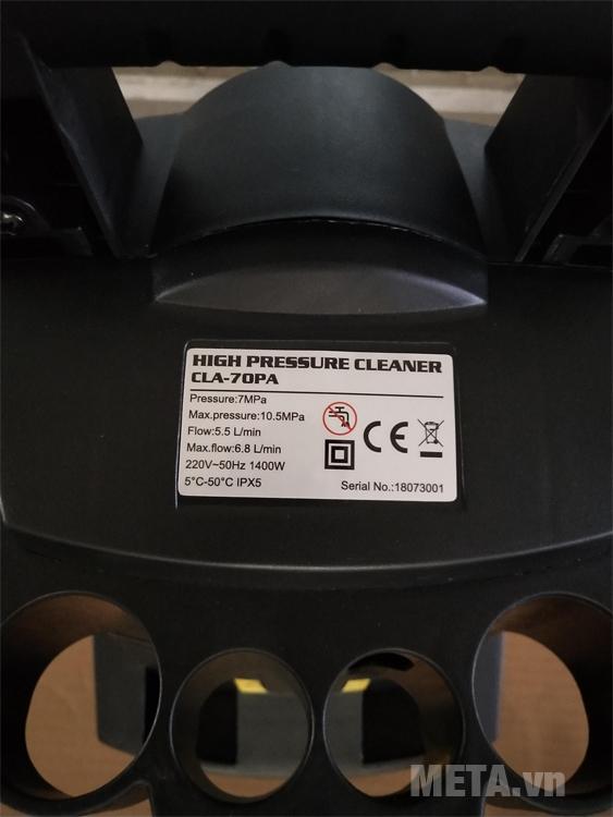Máy rửa xe mô tơ chổi than