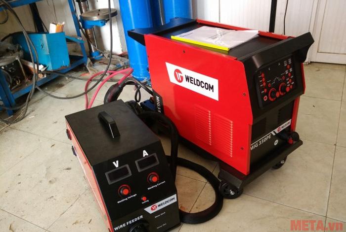 MIG350PE Weldcom là dòng máy hàn nhôm chuyên nghiệp