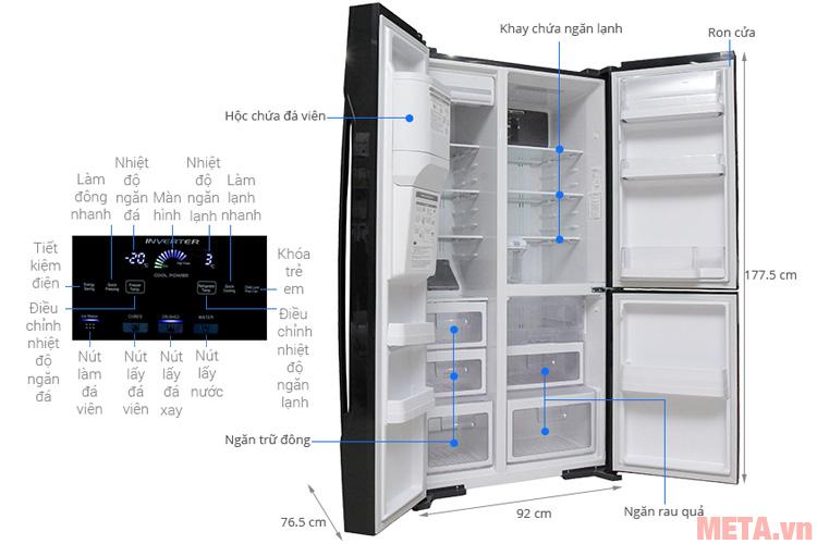 Cấu tạo các chi tiết của tủ