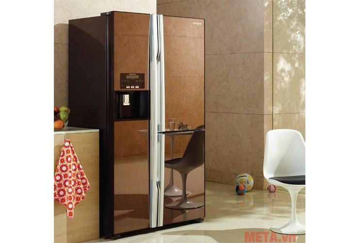 Tủ lạnh 584 lít Hitachi M700GPGV2 màu cà phê