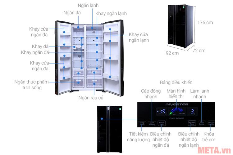 Cấu tạo các chi tiết của tủ lạnh