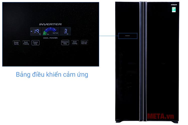 Bảng điều khiển cảm ứng thiết kế bên ngoài tủ