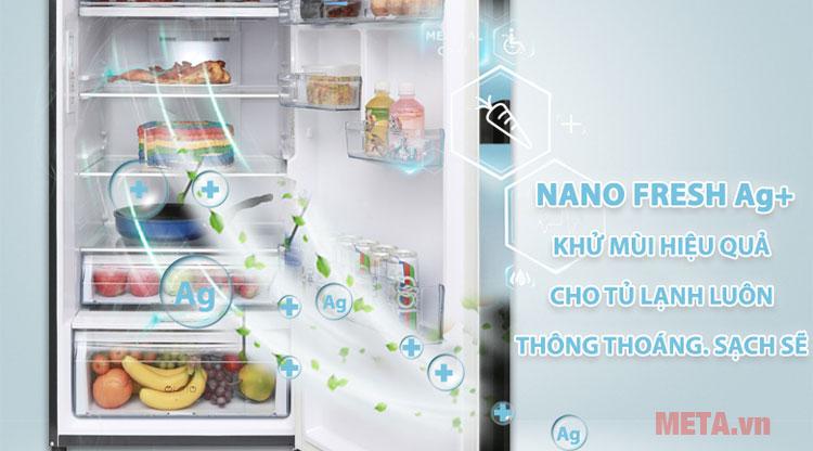 Công nghệ Nano Fresh Ag+ kháng khuẩn, khử mùi hiệu quả