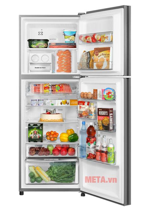 Với dùng tích sử dụng 344 lít cho bạn không gian rộng hơn để trữ thực phẩm.