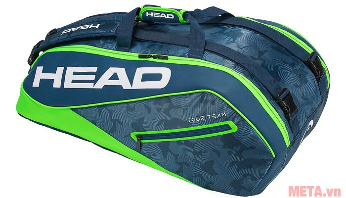 Bao vợt tennis HEAD Tour Team 9R Supercombi 283118 màu xanh