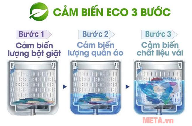 Sử dụng cảm biến Eco 3 bước