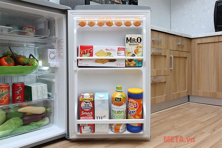 Thực phẩm sẽ được làm lạnh nhanh chóng nhờ công nghệ làm lạnh trực tiếp.