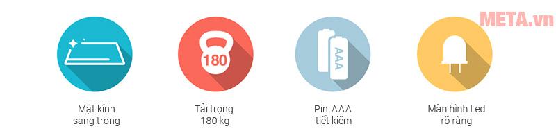 Ưu điểm của cân sức khỏe