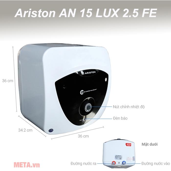 Cấu tạo máy nước nóng Ariston AN 15 LUX 2.5 FE