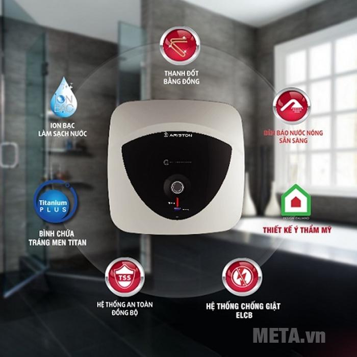 Những tính năng nổi bật của máy nước nóng Ariston AN 15 LUX 2.5 FE