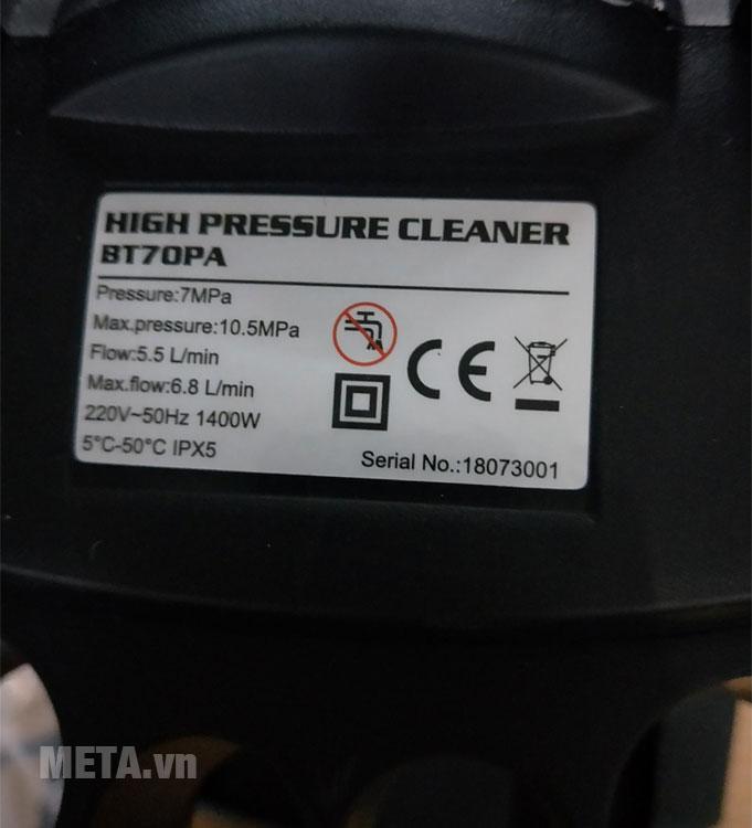 Máy rửa xe mô tơ từ