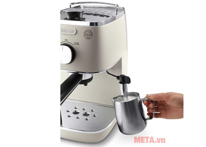 Máy pha cà phê ECI341.W giúp pha Espresso, Cappuccino