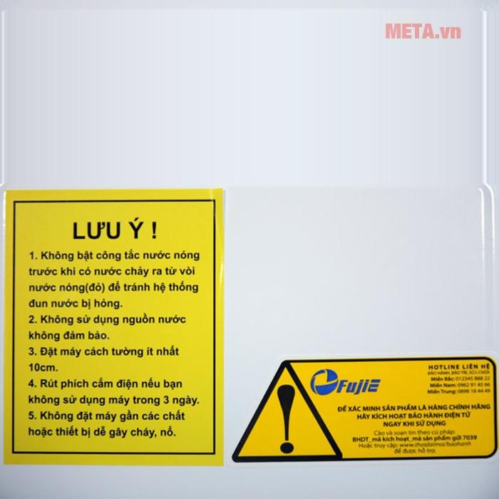 Lưu ý khí sử dụng cây nước nóng lạnh FujiE WD1800C