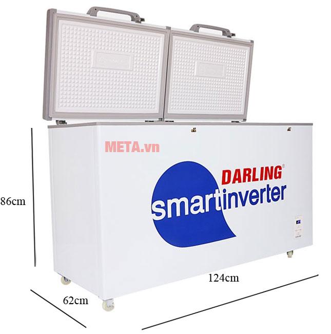 Kích thước chiếc tủ đông Darling DMF 3699WSI-2