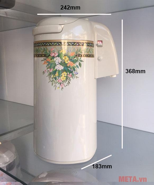 Kích thước của bình nước nóng