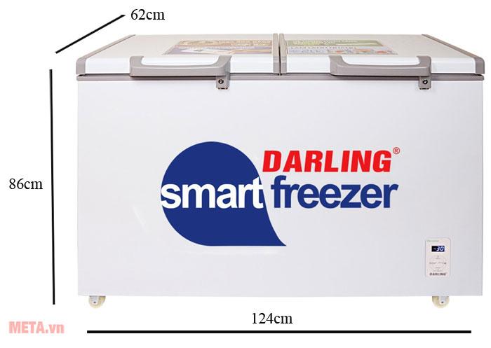 Kích thước tủ đông 1 ngăn Darling DMF-3799AS