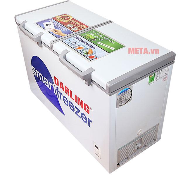 Vỏ tủ được làm từ chất liệu kim loại sơn tĩnh điện