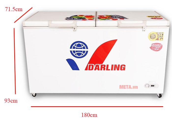 Kích thước tủ đông 1 ngăn DMF-8779AX
