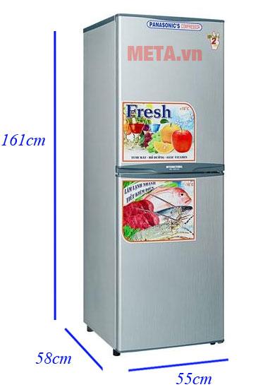 Kích thước của tủ lạnh Darling NAD-2590C