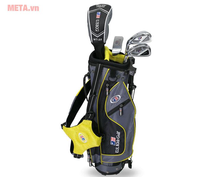Bộ gậy golf trẻ em US Kids Golf UL42 4 Club với túi gậy hiện đại.