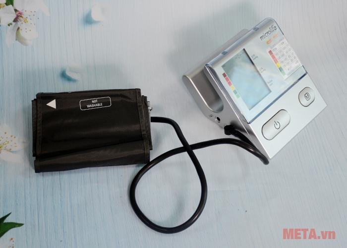 Máy đo huyết áp bắp tay Microlife BP A100 Plus đi kèm túi hơi