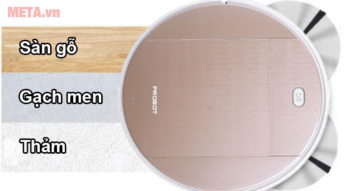 Robot có thể làm sạch trên nền thảm, gỗ, gạch men