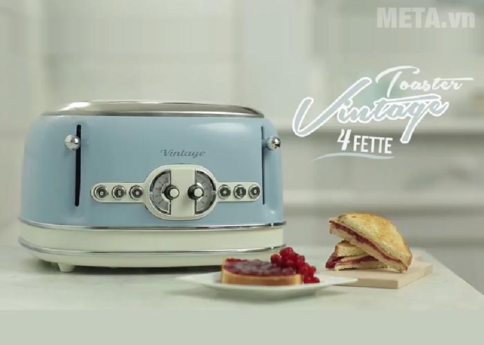 Máy nướng bánh mì Ariete MOD 0156 giúp nướng bánh nhanh chóng