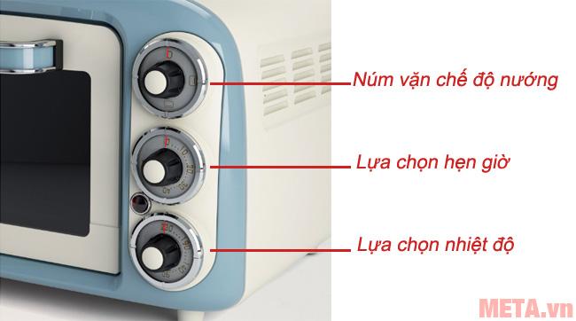 Bảng điều khiển núm vặn dễ dàng sử dụng
