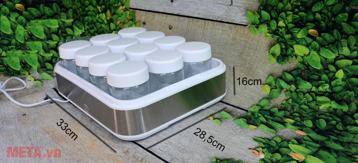 Kích thước của máy làm sữa chua nhập khẩu Đức