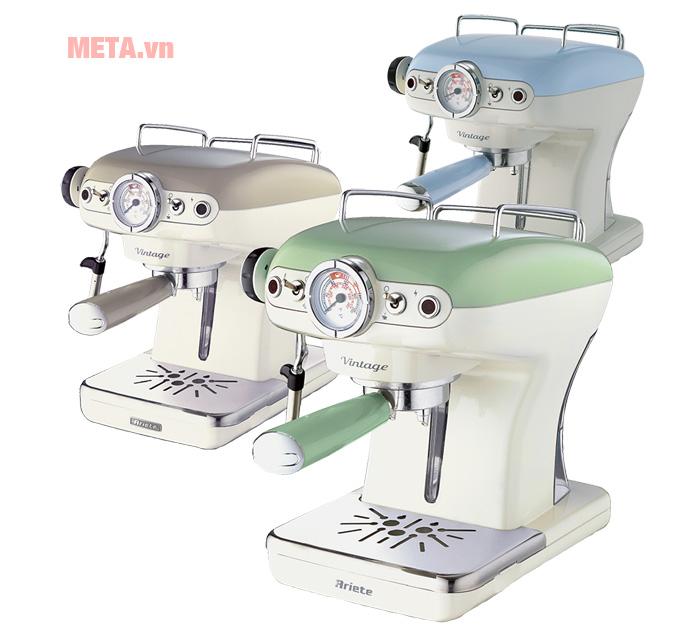 Máy pha cà phê Ariete MOD 1389 pha cà phê sữa, cafe Cappuccino... nhanh chóng, tiện lợi.