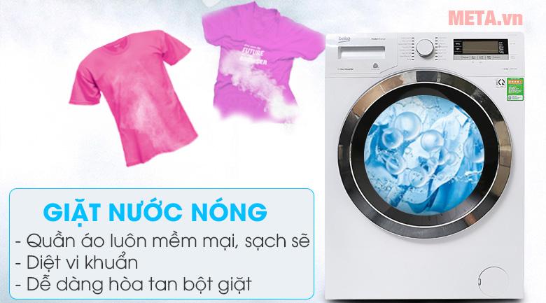 Giặt nước nóng khiến quân áo luôn mềm mại, không có cặn bột giặt
