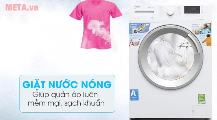 Chế độ giặt nước nóng giúp áo quần sạch khuẩn tối đa