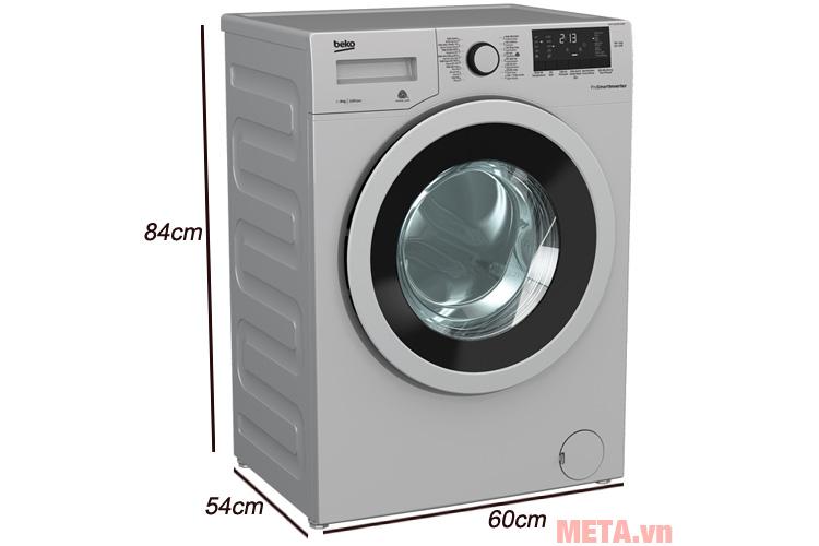 Kích thước của máy giặt Beko 8kg