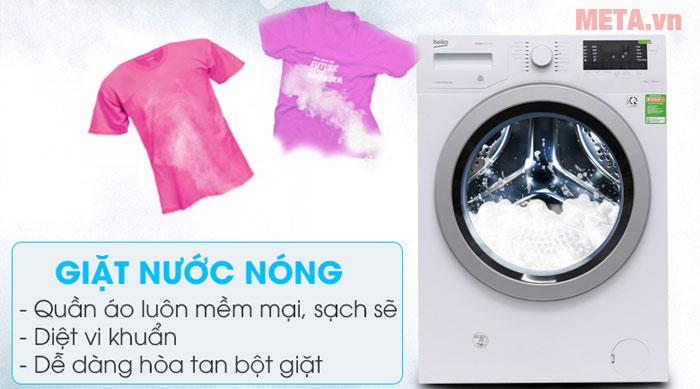 Máy giặt Beko có chế độ giặt nước nóng