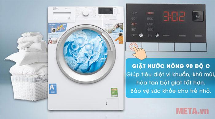 Chế độ giặt nước nóng thông minh