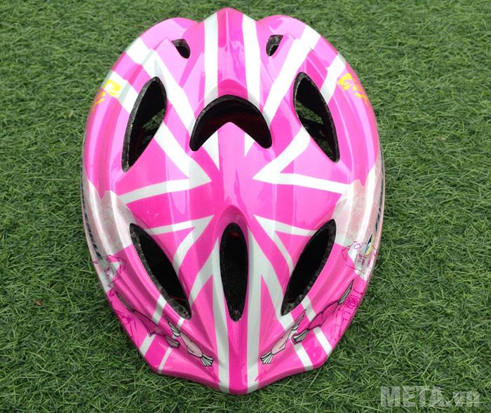 Mũ bảo hiểm Patin V5 màu hồng