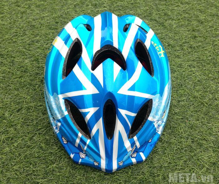 Mũ bảo hiểm Patin V5 màu xanh