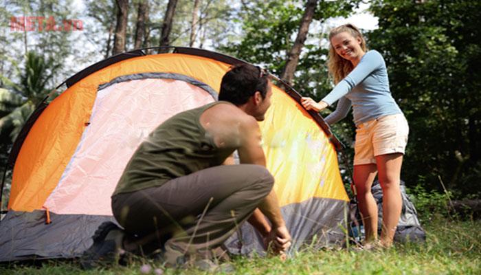 Sử dụng lều trại