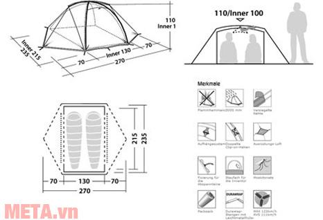 Kích thước của lều