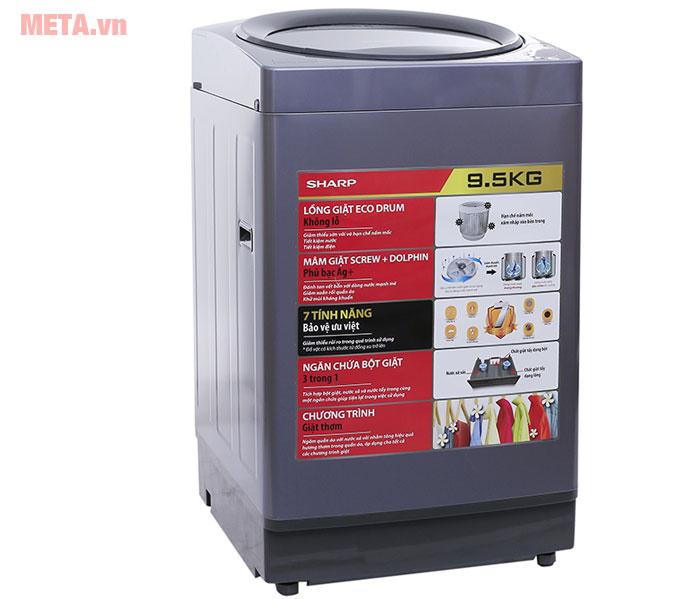 Máy giặt có thiết kế lồng nghiêng